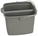 Twin Section Bucket  Grey  14 Litre Capacity