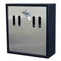 Wall Mounted Cigarette Bin  Eco Ash  Stainless Steel